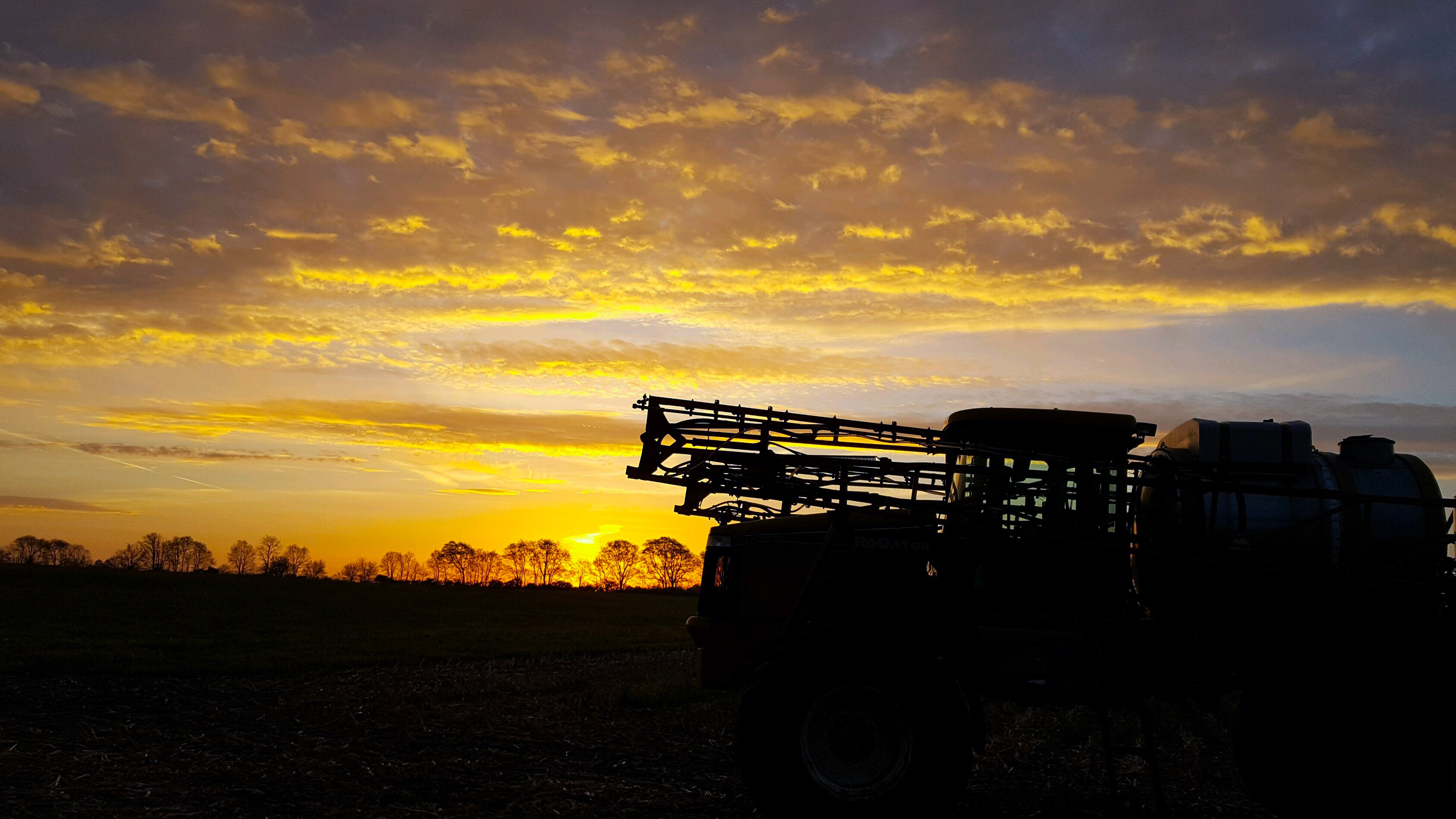sprayer sunrise