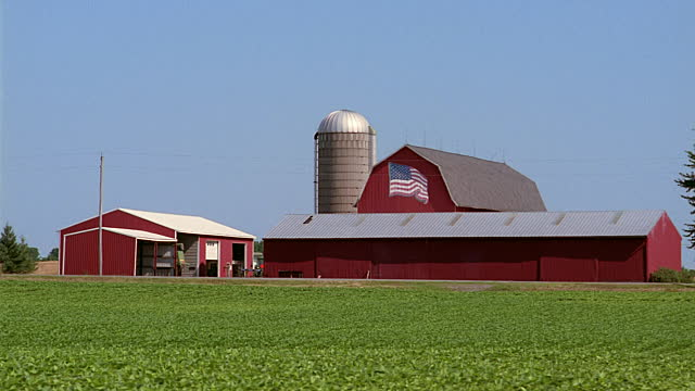red barn flag