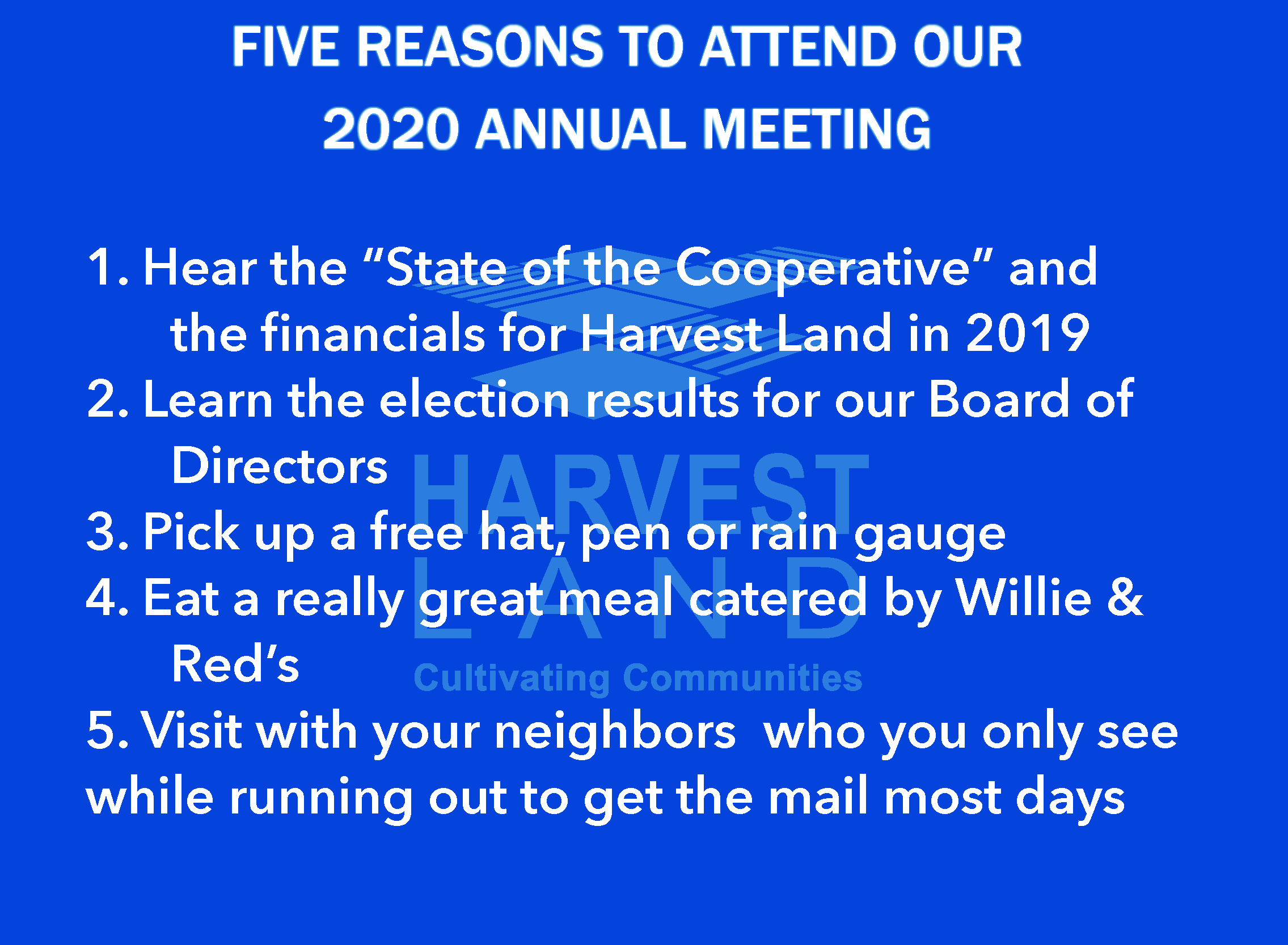 ANNUAL MEETING TOP 5